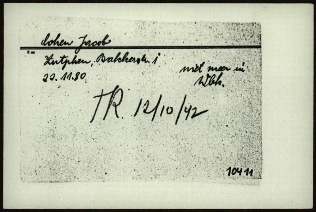 Kaart uit cartotheek Joodse Raad